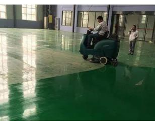 秀洁洗地机成功进入奇瑞新工厂车间