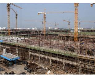 承建中建一局华南城工程施工现场