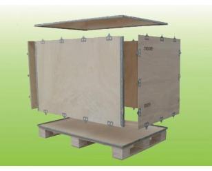 合肥冰明包装-合肥钢边箱生产